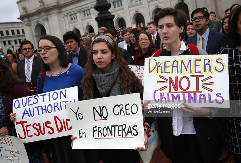 Protesta en apoyo de Dreamers