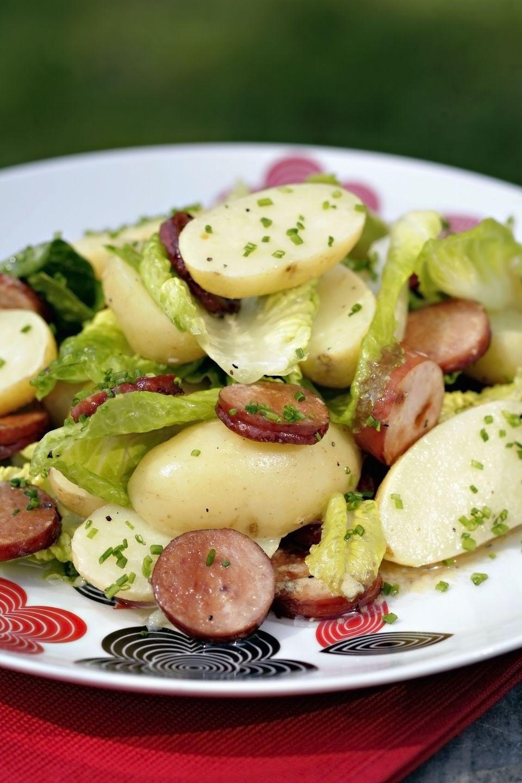 Polish potato and sausage salad