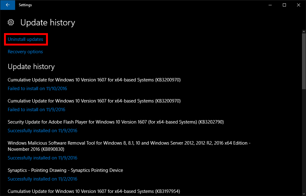 update for windows 10