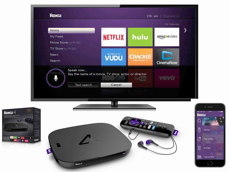 Roku 4 Streaming Media Player Package