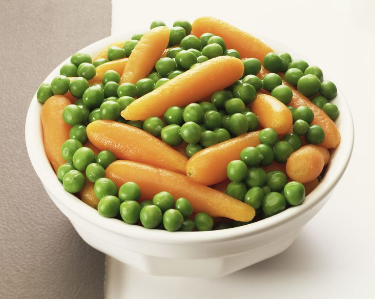 Peas and carrots are high in lutein.