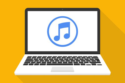 iTunes on laptop