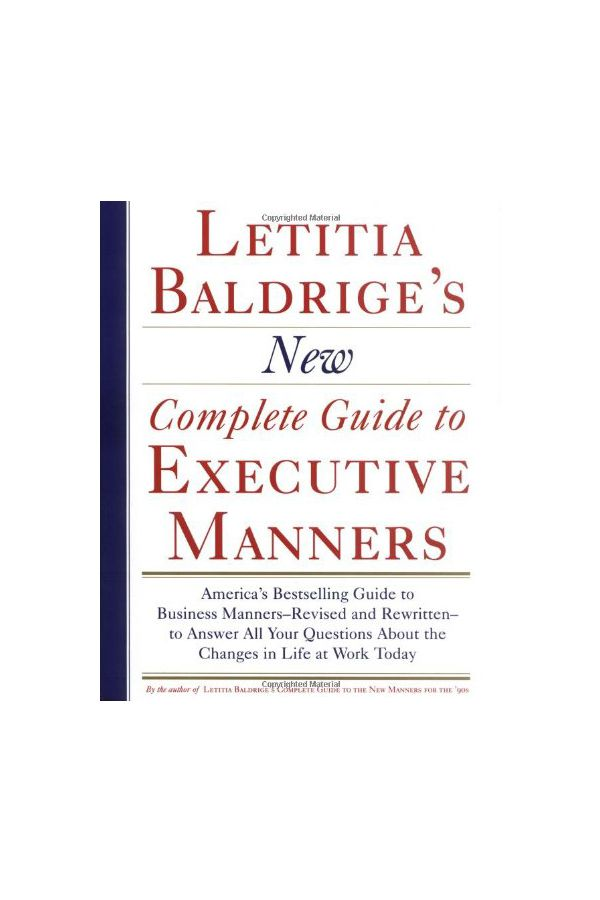 New Complete Guide to Executive Manners.