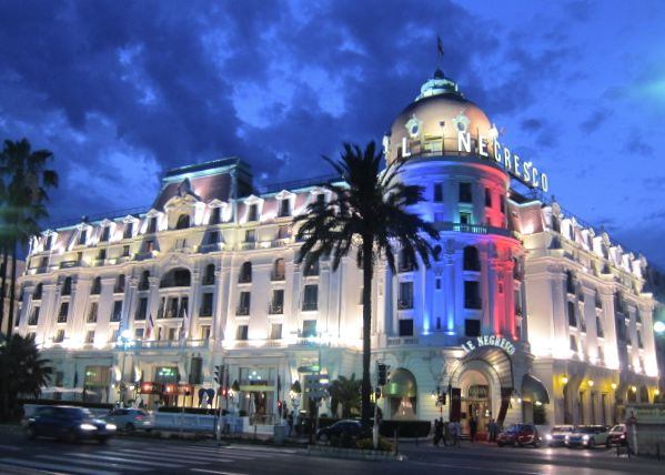 Le Negresco Hotel in Nice on the French Riviera.