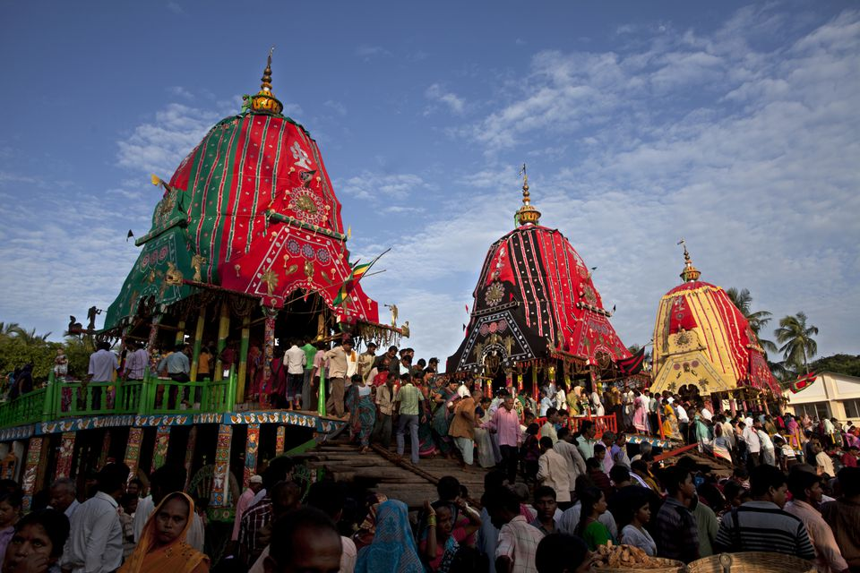 Pilgrims at the Puri Rath Yatra