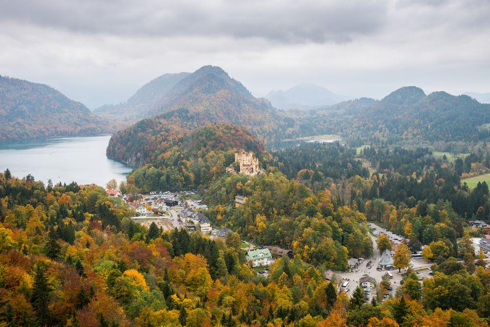 Hohenschwangau castle in autumn