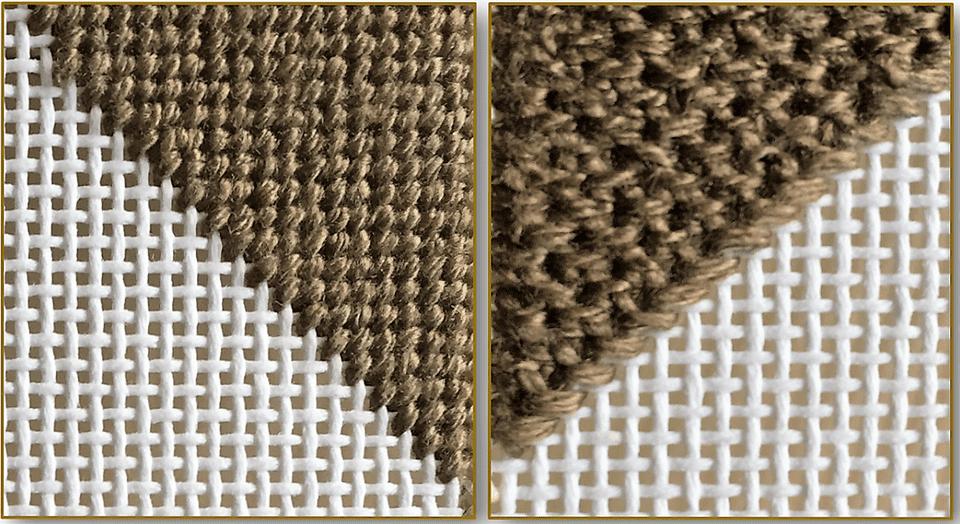 basketweave tent stitch-front-back