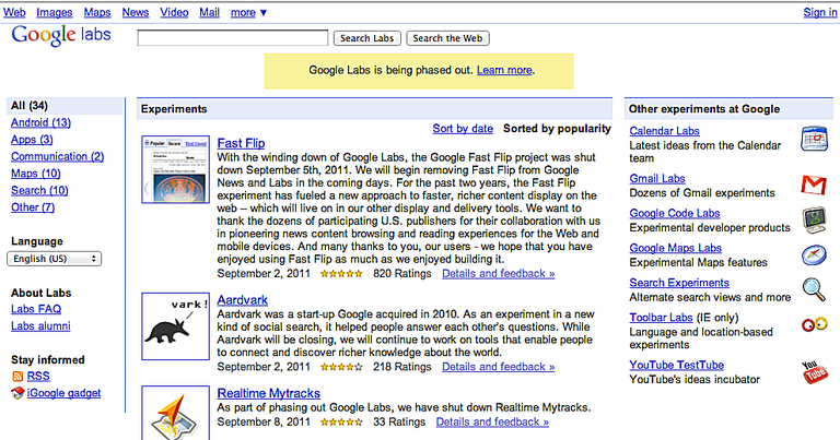 Google Sets died with Google Labs