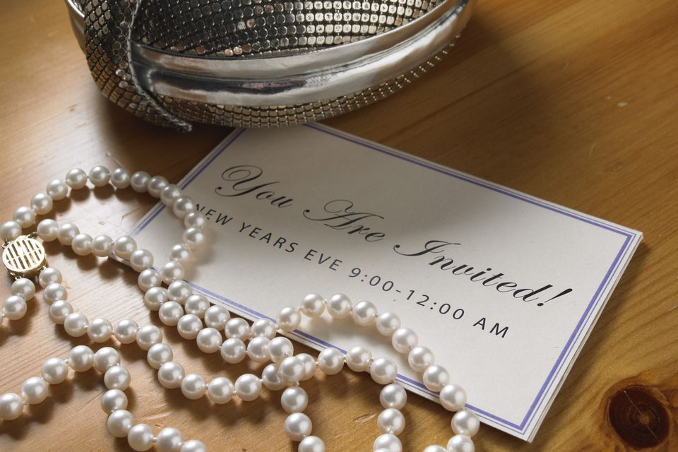 Invitation with string or pearls