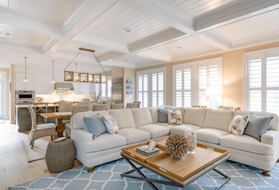 beach living room furniture. Open concept beach house 20 Beautiful Beach House Living Room Ideas