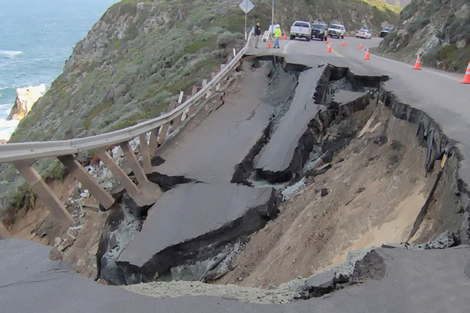 Mudslides Like This Can Close Highway One in Big Sur