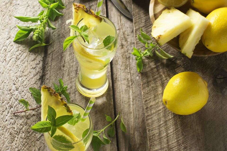 Tropical Detox Tonic With Coconut Water