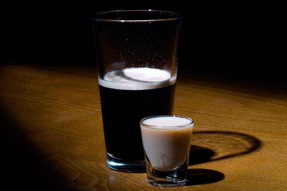 Irish Car Bomb - A Popular Dropped Shot of Irish Whiskey and Guinness