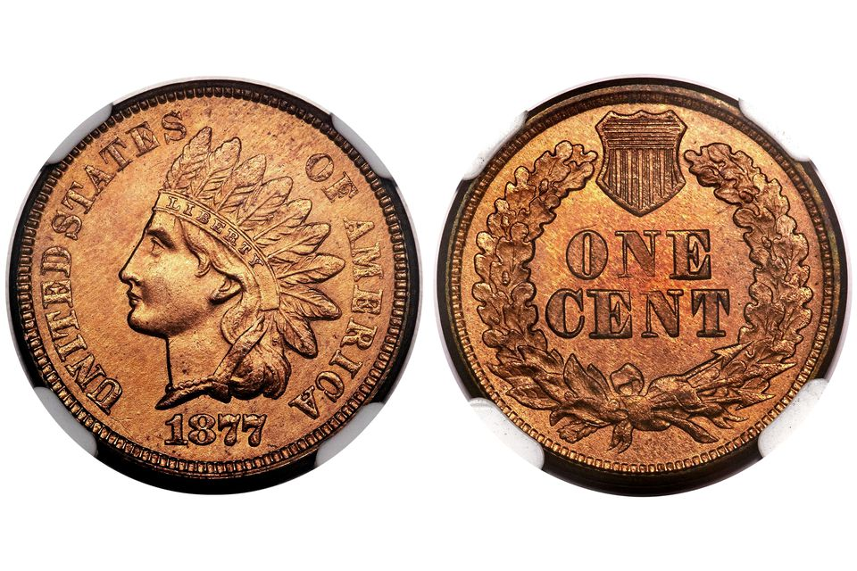 1877 Indian Head Sent