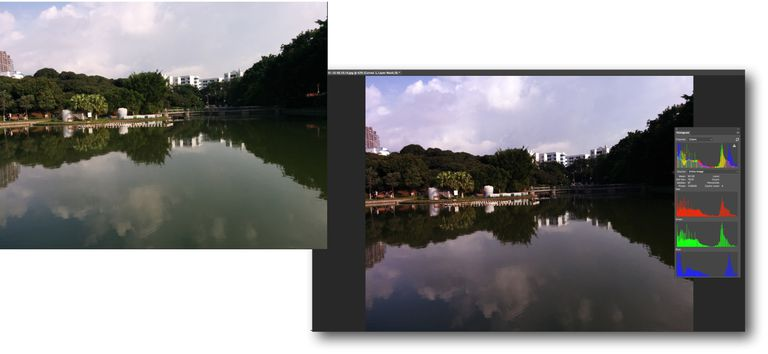 The original and color corrected images are shown.