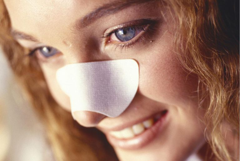 Woman with strip on nose