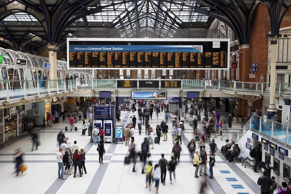 Liverpool Street Station Concourse, London, UK