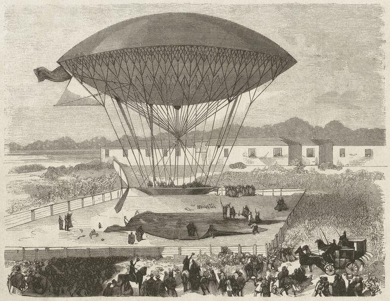 Airship by Henri Dupuy de Lôme