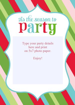 15 free christmas party invitations that you can print living locurtos free christmas party invitations stopboris Gallery
