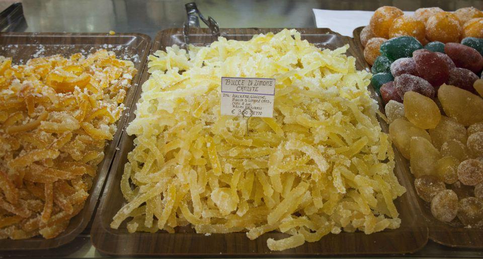 Candied orange and lemon peel, Sicily
