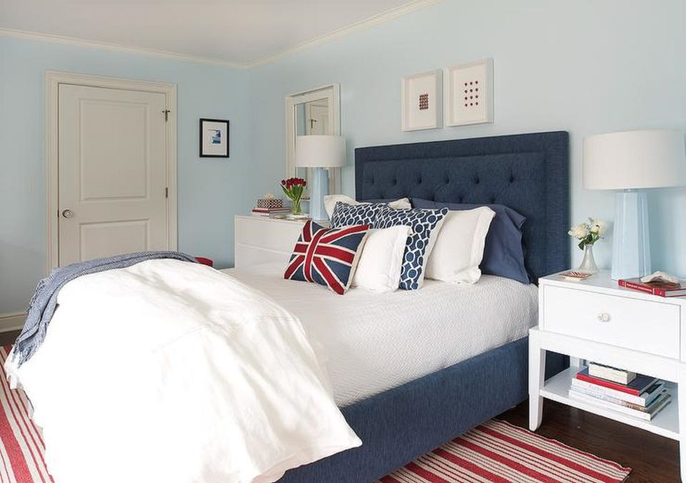 Red White And Blue Room 25 stunning blue bedroom ideas