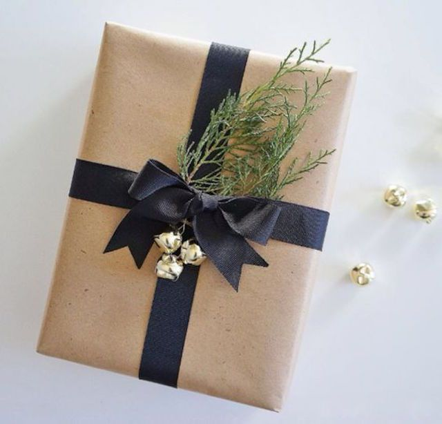 Moden wrapping paper with pine foliage
