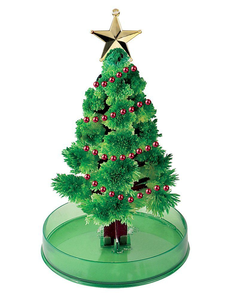 you can make the crystal tree yourself or grow it from a kit - Crystal Christmas Tree
