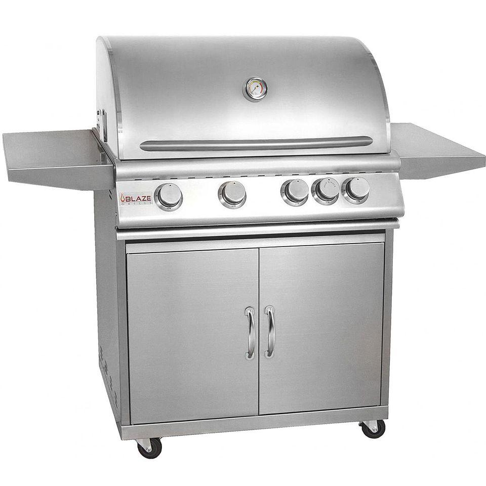 Blaze 32-Inch 4-Burner Gas Grill Model# BLZ-4-LP