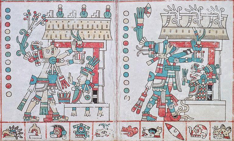 page from Codex Tezcatlipoca (Fejérváry-Mayer), manuscript, Aztec civilization