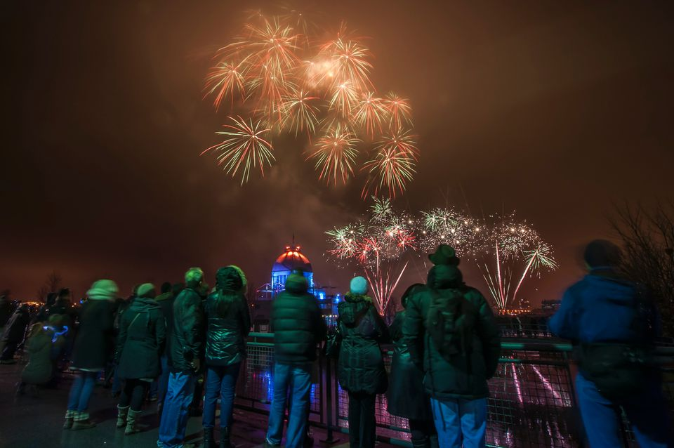Montreal New Year's Eve Fireworks 2017-2018