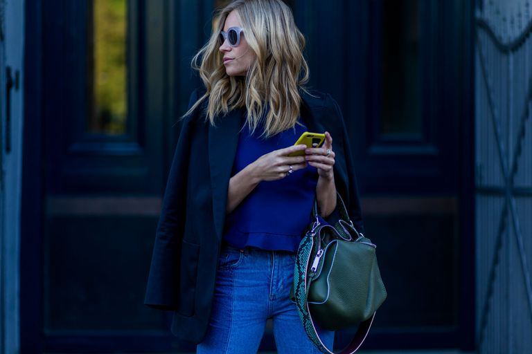 Street style woman in jeans