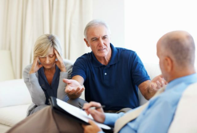 Older couple counseling