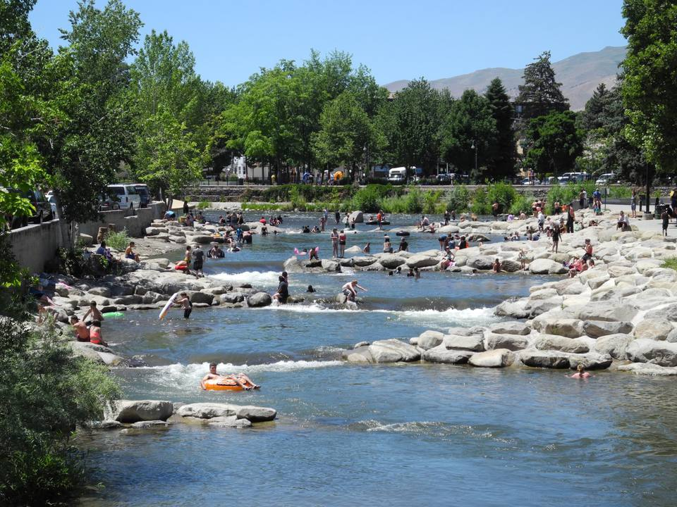 Wingfield Park and the Truckee River in Reno, Nevada