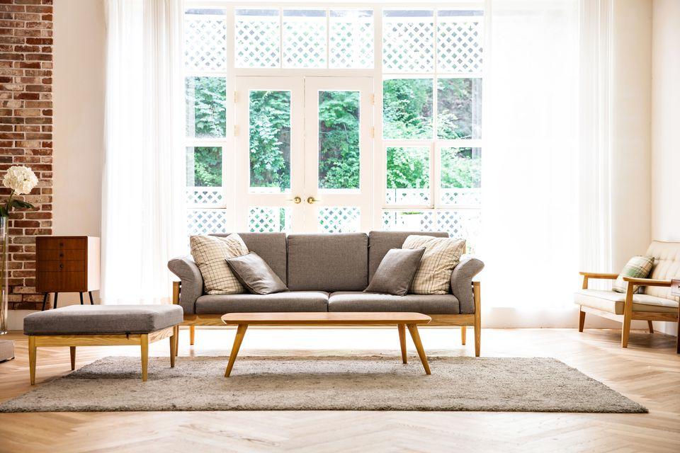 Interior shot of modern living room