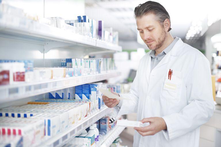 Pharmacist filling perscription