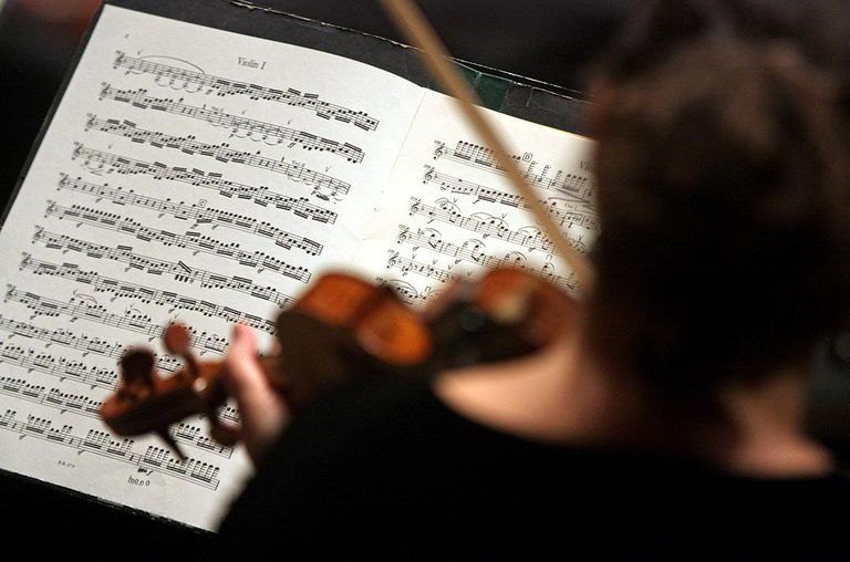 A violinist from the New York Philharmonic performs music by Beethoven.