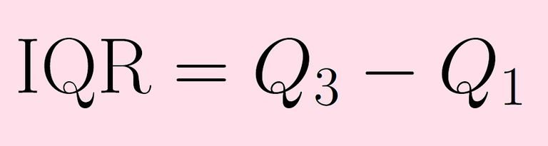 The interquartile range (IQR) is the difference of the first and third quartiles.