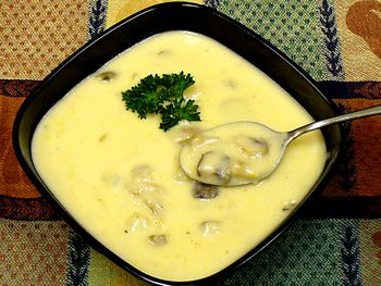 Bump Up Homemade Cream Of Mushroom Soup With Cheddar Cheese