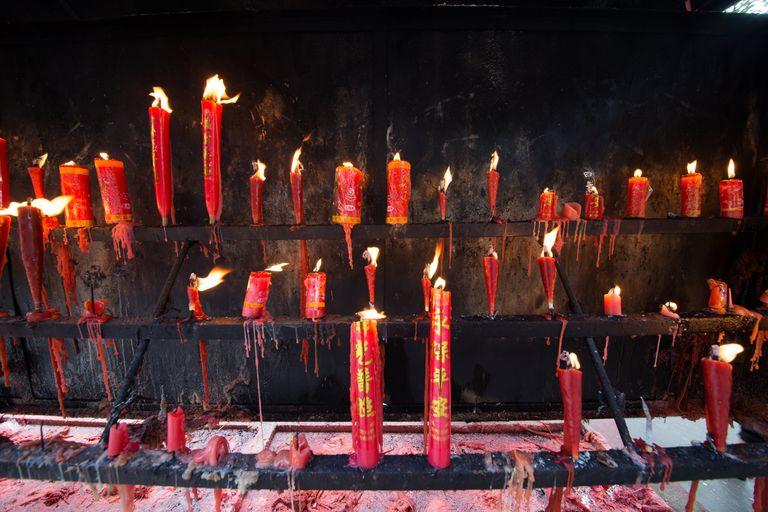 Incense and Candles at Yingiang Temple, China