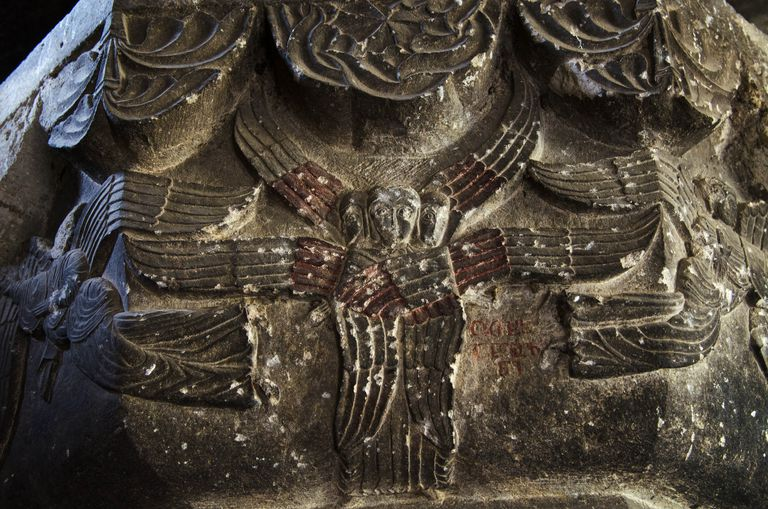 Angels with red paint in Anatolia