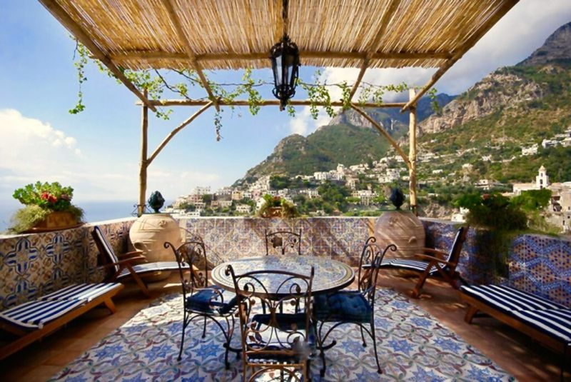Luxury villa near Positano on the Amalfi coast of Itay