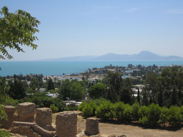 View from the Roman Acropolis at Carthage, Tunisia