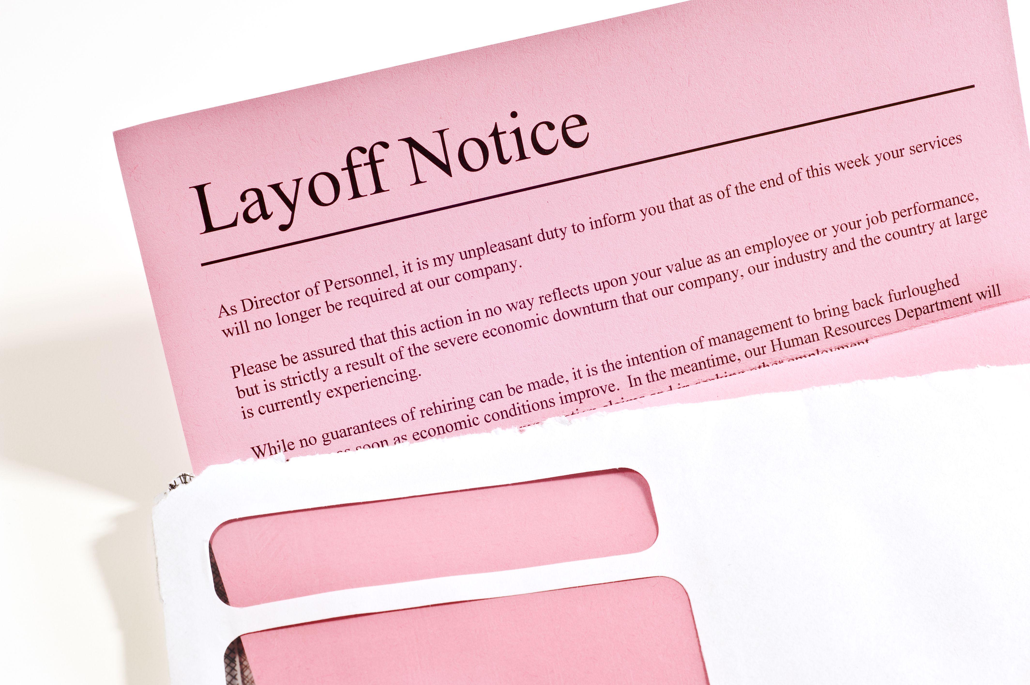 laid off letter