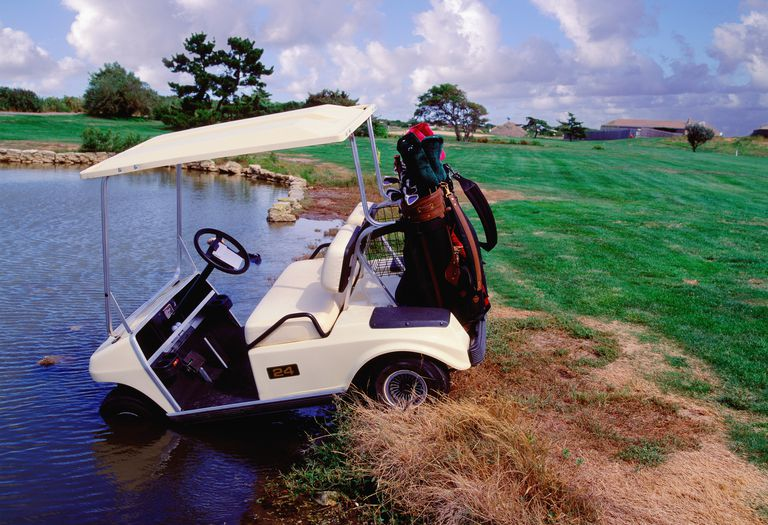 Golf cart accident - driving into water hazard