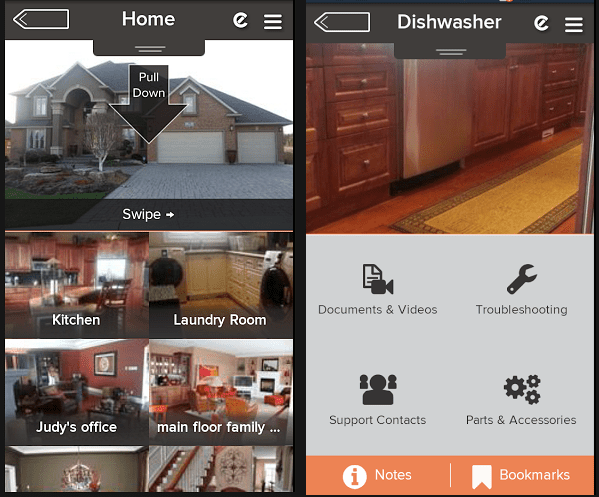 Encircle: Home Inventory app on and Android phone.