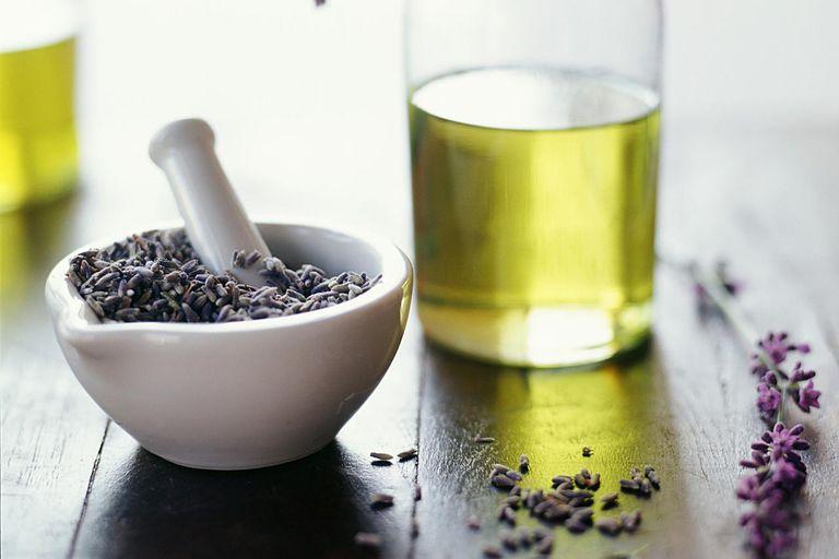 Fresh lavender and lavender oil.