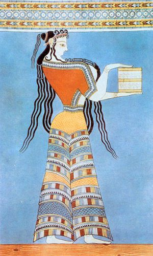 Mycenaean Woman Fresco From c. 1300 B.C.