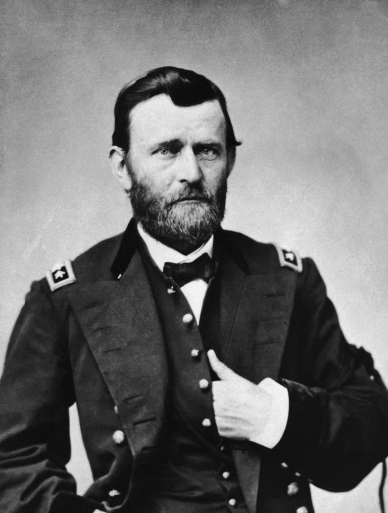 Ulysses S. Grant (1822-85) US general and 18th President (B&W)