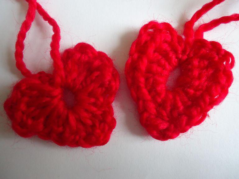 corazones de crochet (a ganchillo)