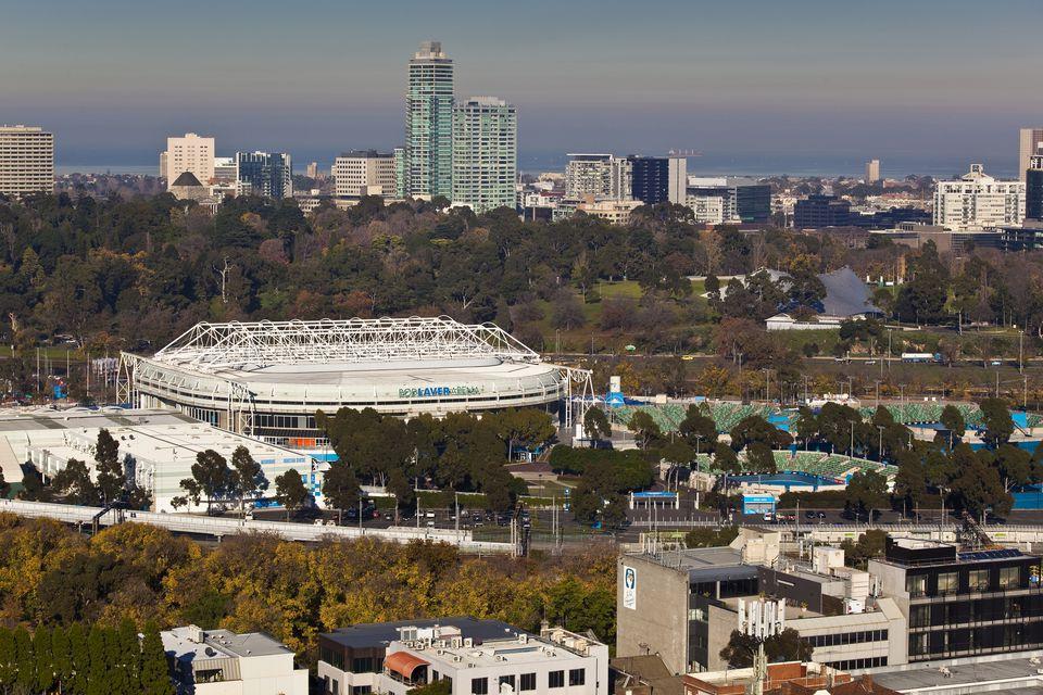 Rod Laver Arena at Melbourne Park tennis centre.